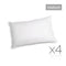 Giselle Bedding Set of 4 Medium Cotton Pillows