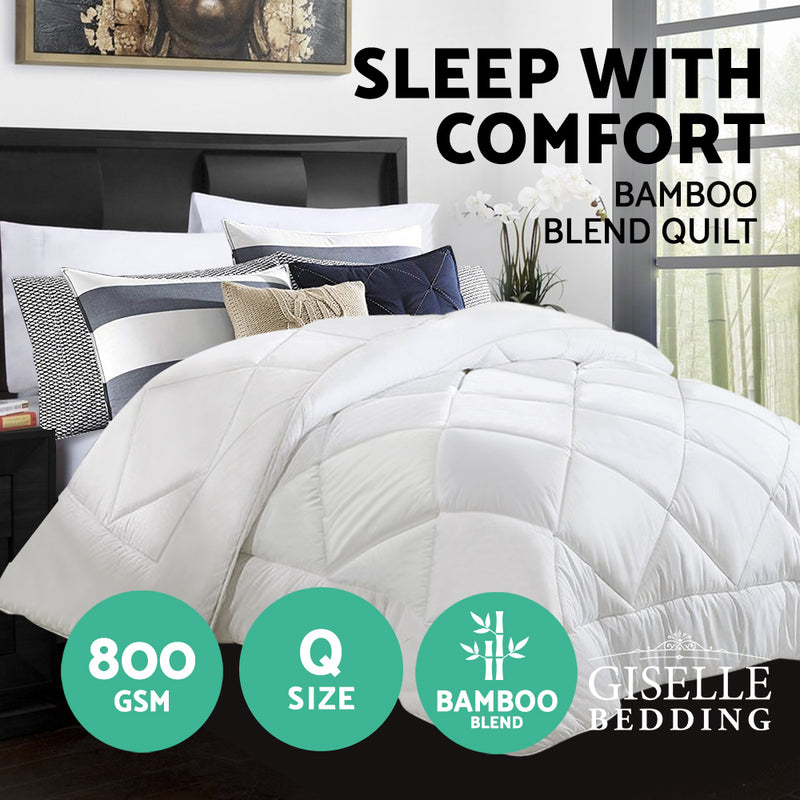 Bedding Microfibre Bamboo Quilt Winter Duvet Doona - Queen