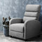 Luxury Recliner Lounge Armchair Sofa - Fabric Cover Grey