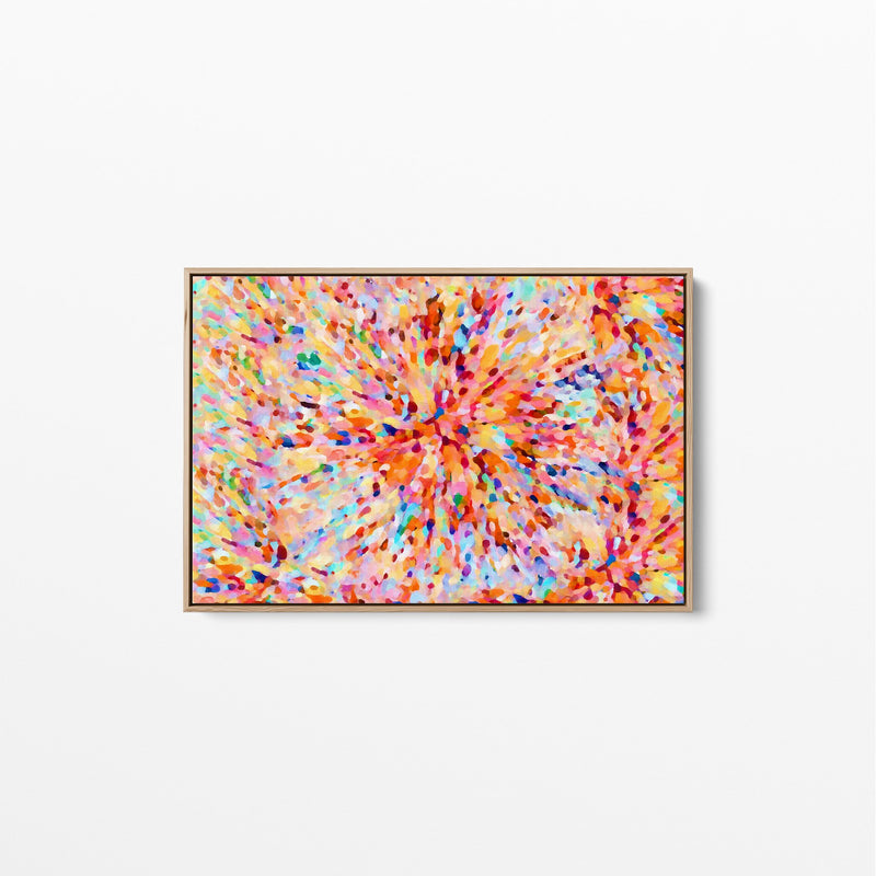 Sun Flare In Orange - Abstract Artwork Stretched Canvas Wall Art