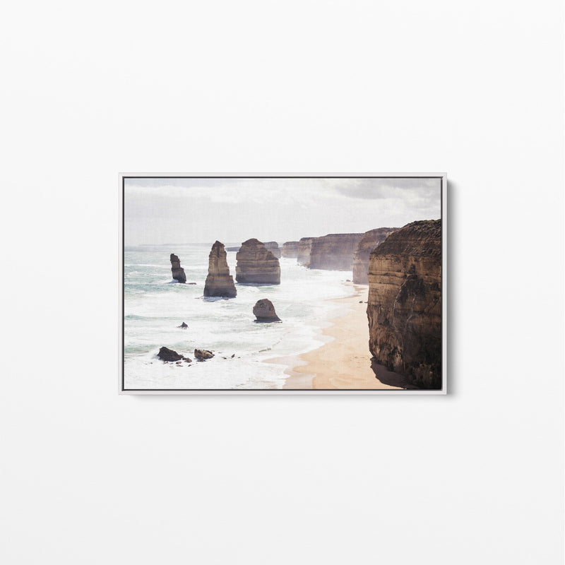 The Twelve Apostles Great Ocean Road Canvas Art White Frame