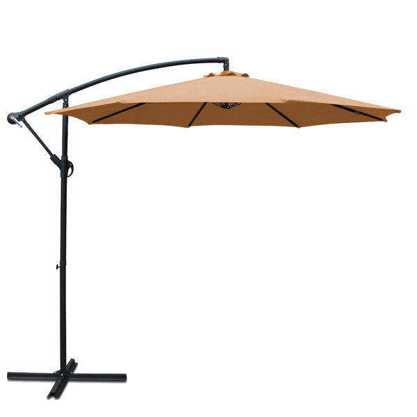 Instahut 3M Cantilevered Outdoor Umbrella - Beige