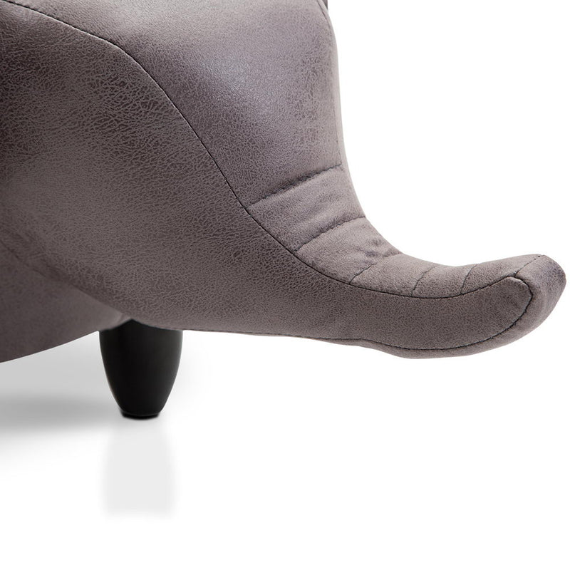 Kids Elephant Animal Stool - Grey
