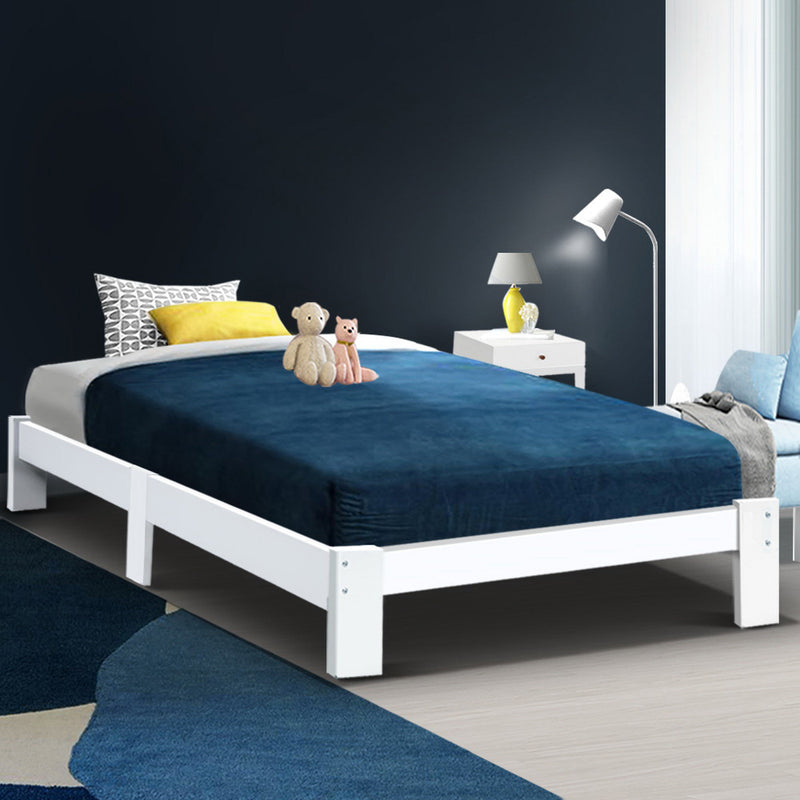 SINGLE Size - Wooden Bed Base Frame