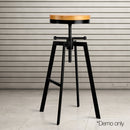 Adjutable Height Swivel Bar Stool - Black