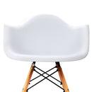 2 x Beech Wood Dining Chairs - White