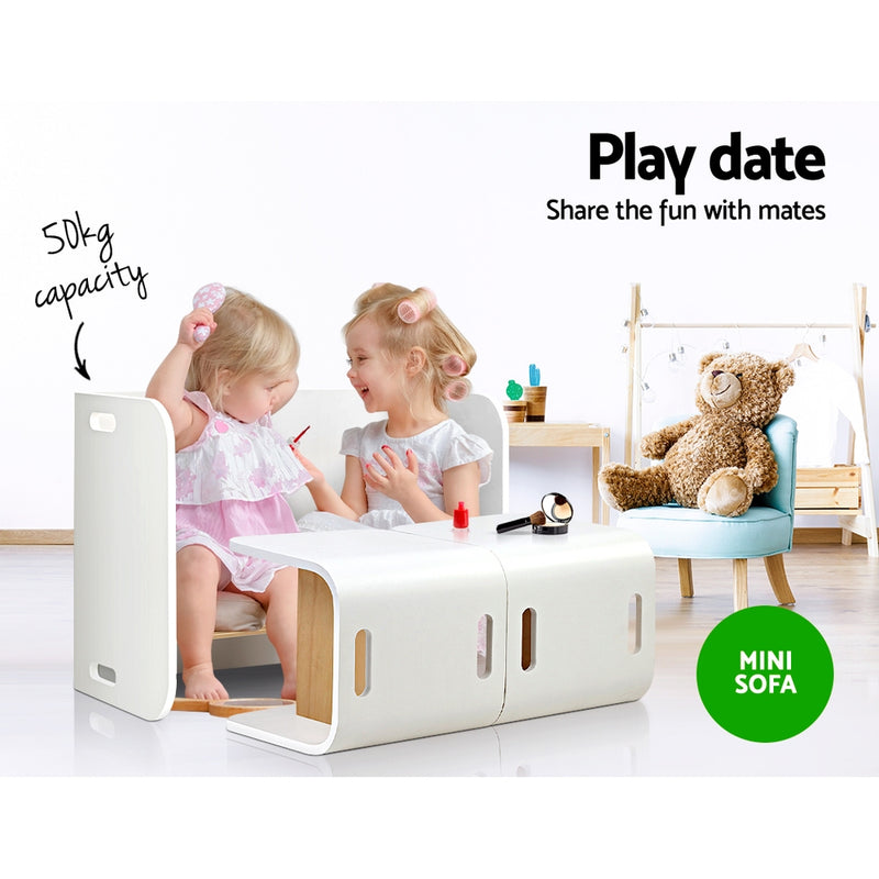 Kids Table and Chair Set - White