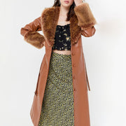 Fur collar warm fur coat