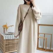 Women's fashion bat sleeve long sweater skirt