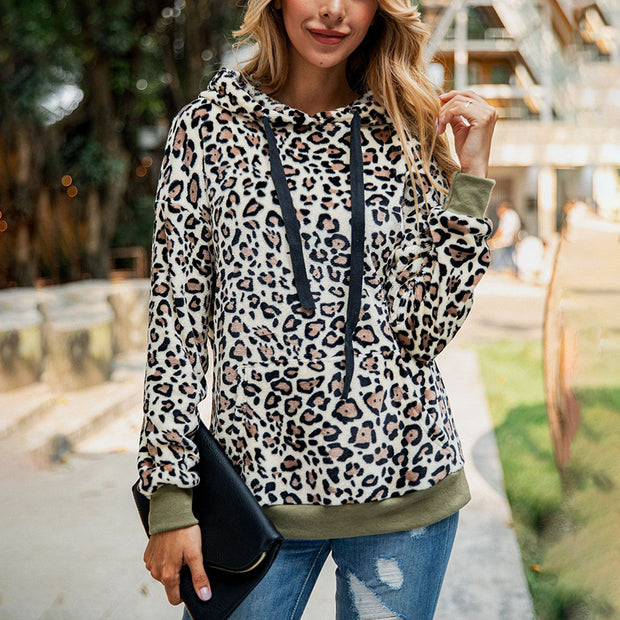 Leopard Pocket Plush Sweater