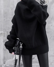 Knitted Autumn And Winter High Neck Loose Sweater