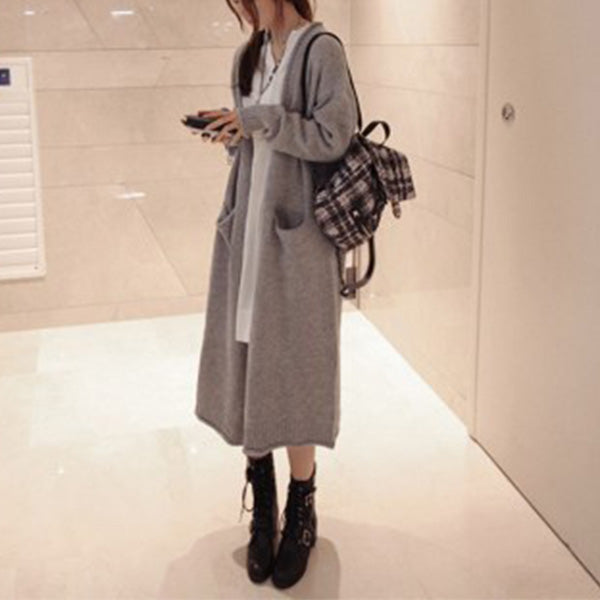 Loose Sweater Knit Coat Cardigans