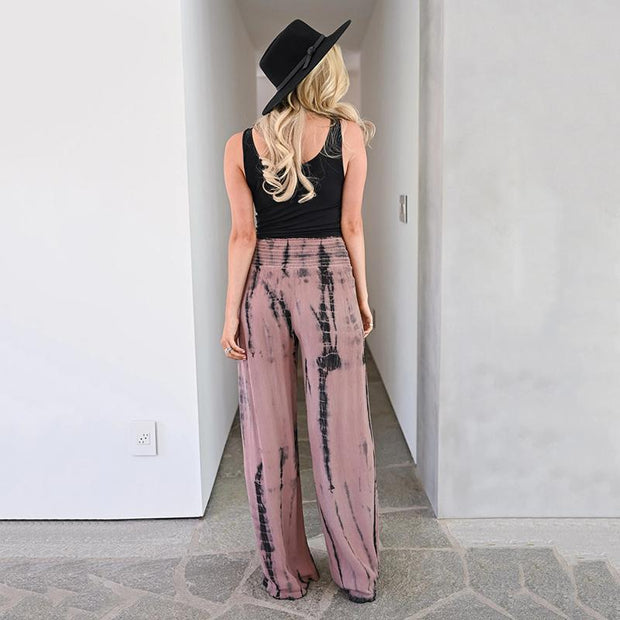 Fashion Loose Printed Wide-Legged Pants