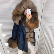 Fashion long sleeve warm winter warm jacket (removable fur collar)