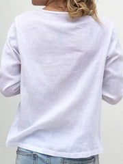 White Breathable Button Shirt