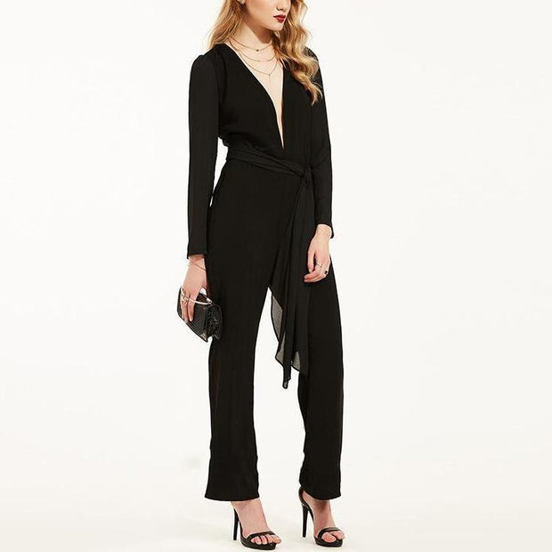 Sexy And Deep V - Waist Jumpsuit