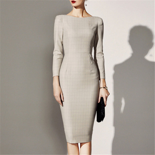 Autumn And Winter British Style Dress bodycon Dress