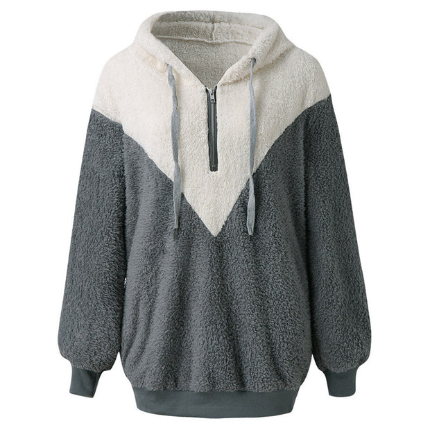 Casual stitching loose long-sleeved sweater