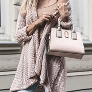 Casual Pure Color Long Sleeve Knit Cardigan
