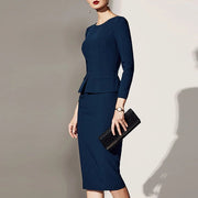 Autumn And Winter European And American Style Commuter Skirt Dressing Bag Hip Skirt Bodycon Dress