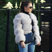 Autumn and winter fashion faux fur short coat