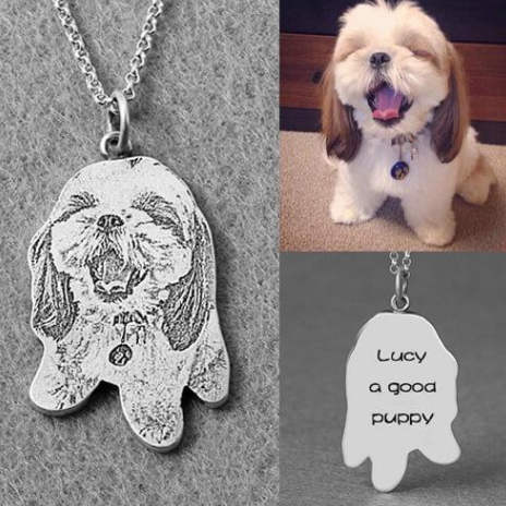 customize dog necklace