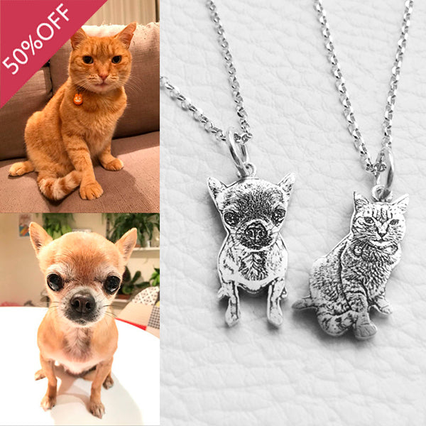Personalized Pet Photo Necklace Sterling Silver