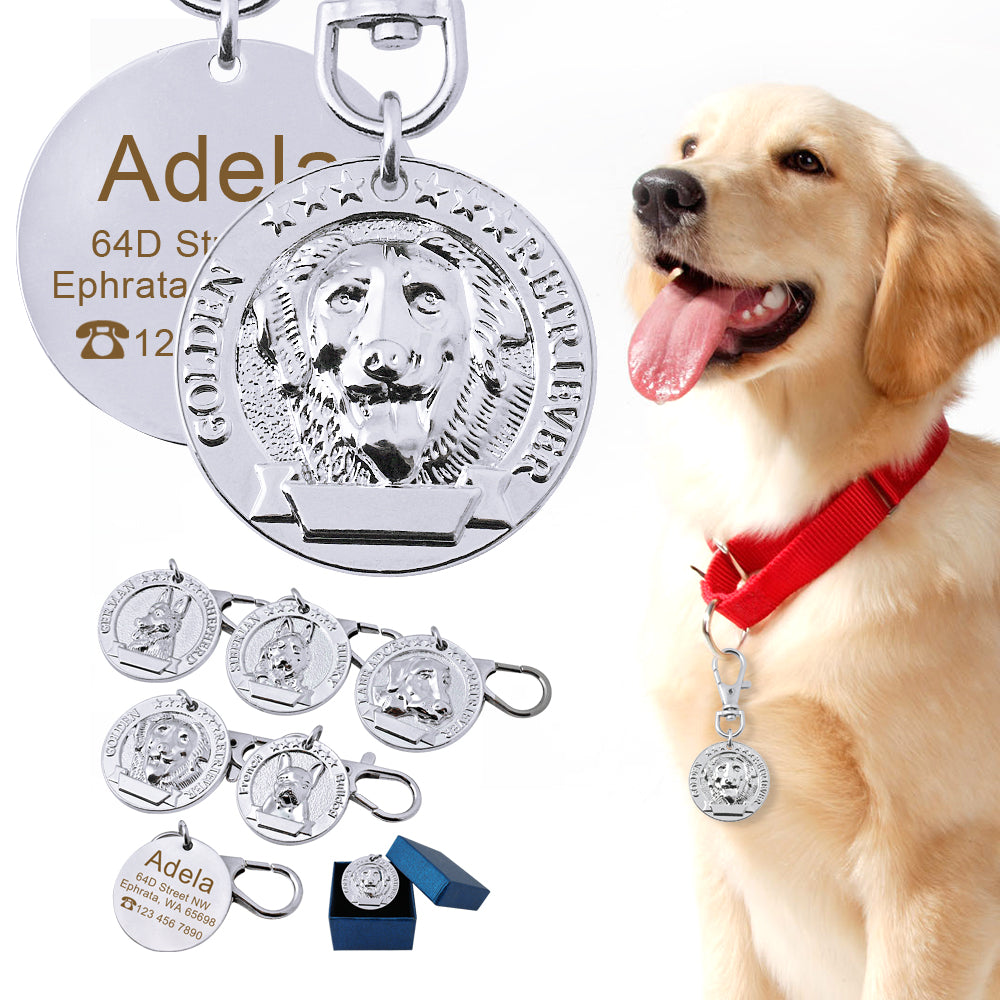 Custom Dog Collar Tag Personalized Stainless Steel Pet Id Tags