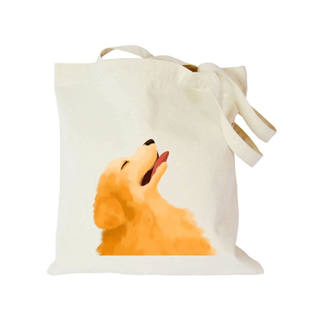 Pet dog series canvas bag customized eco custom tote bag custom made shopping bags with logo Dachshund Shepherd Dog Poodle