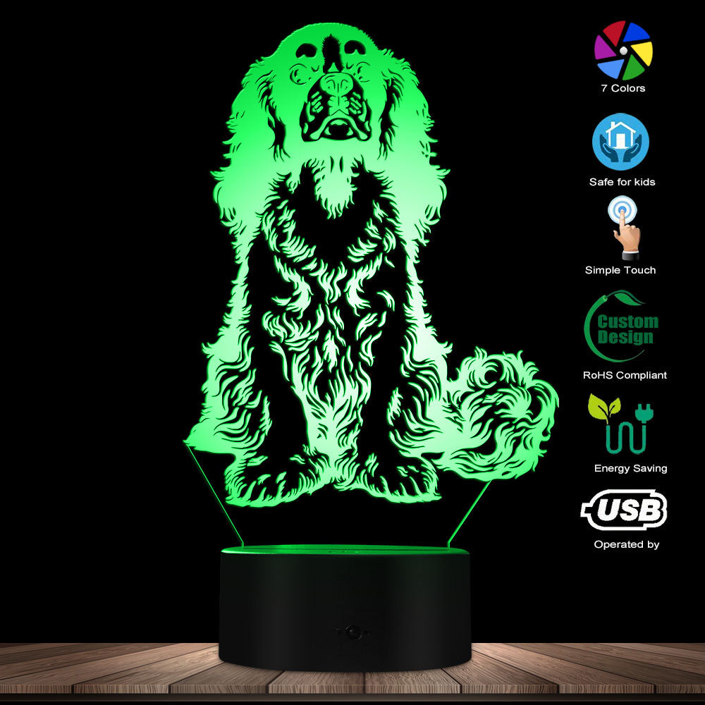 Cavalier King Charles Spaniel Dog Breed LED Night Light Table Lamp Adorable Dog Pet Puppy 3D Optical illusion Light Visual Lamp