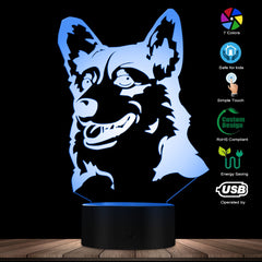 Cardigan Welsh Corgi Dog Breed 3D Optical illusion Light Animal Pet Hound Puppy Modern Novelty Table Lamp Decor LED Night Light