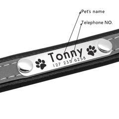 Reflective Dog Collar Personalized Pet Dog Collars Leather Padded Dogs Collar