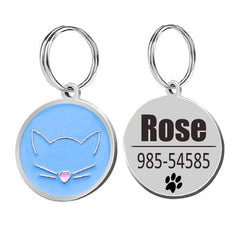 Custom Cats Kittten Puppy Name Tag Phone
