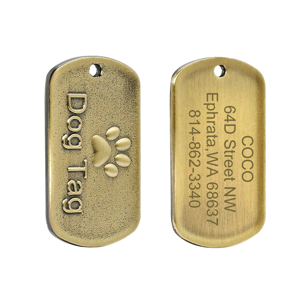 Custom Engraved Dog Tag Medium Large Pet Stainless Steel
