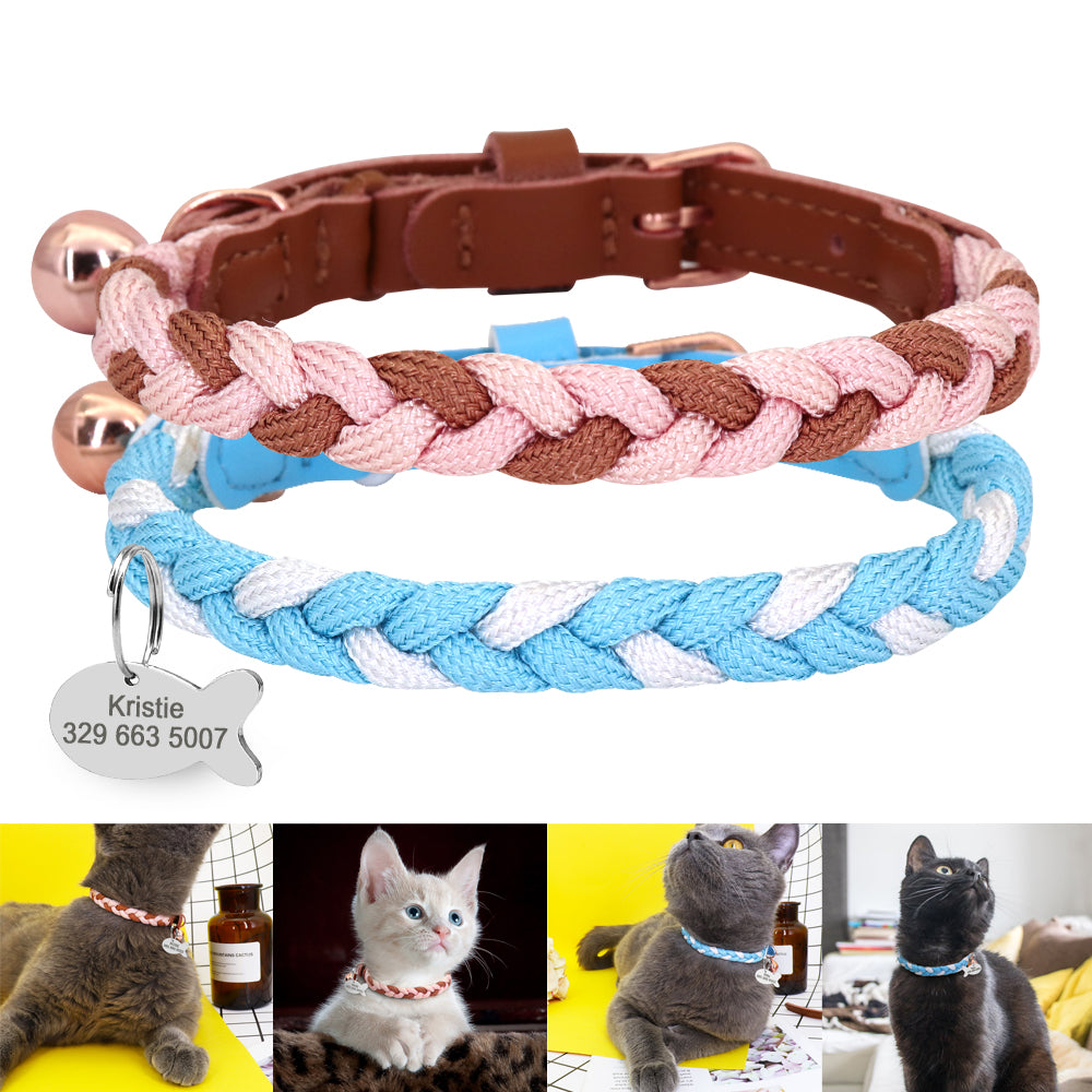 Fashion Cat Collar Personalized Puppy Cat Collar For Small Dogs