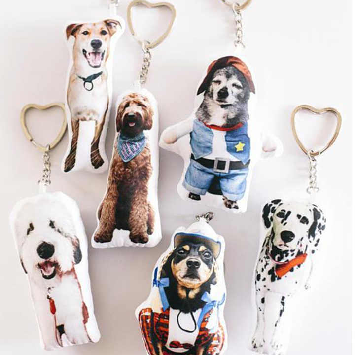 Personalized Engraved Mini Me Pet Key Chain Colorful