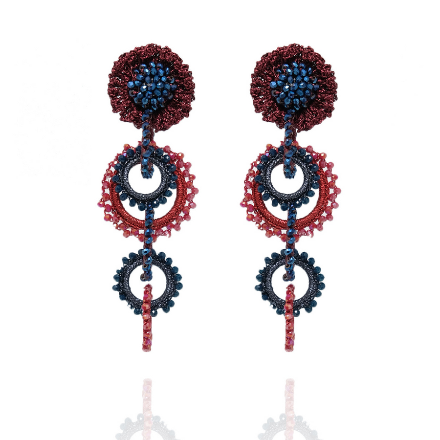 Salento Rose Red / Blue / Burgundy