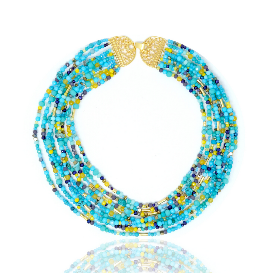 Mitu Multilayered Necklace Turquoise