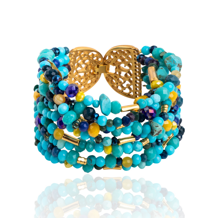 Mitu Multilayered Bracelet Turquoise