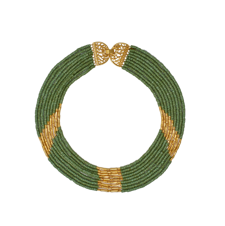 Mitu Necklace Moss Green