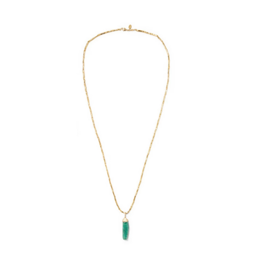 Salsa Gold-Plated Emerald Necklace