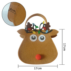 1pc Christmas Red-nosed Reindeer Candy Gift Bags - aidaroos.com