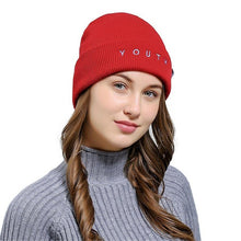 Load image into Gallery viewer, Embroidered Beanie Hat - aidaroos.com