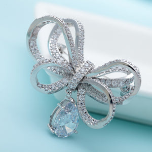 Vintage CZ Bowknot Brooches for Women - aidaroos.com