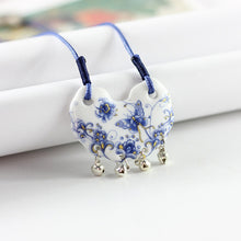 Load image into Gallery viewer, Butterfly Flower Ceramic Necklace Natural Stone - aidaroos.com