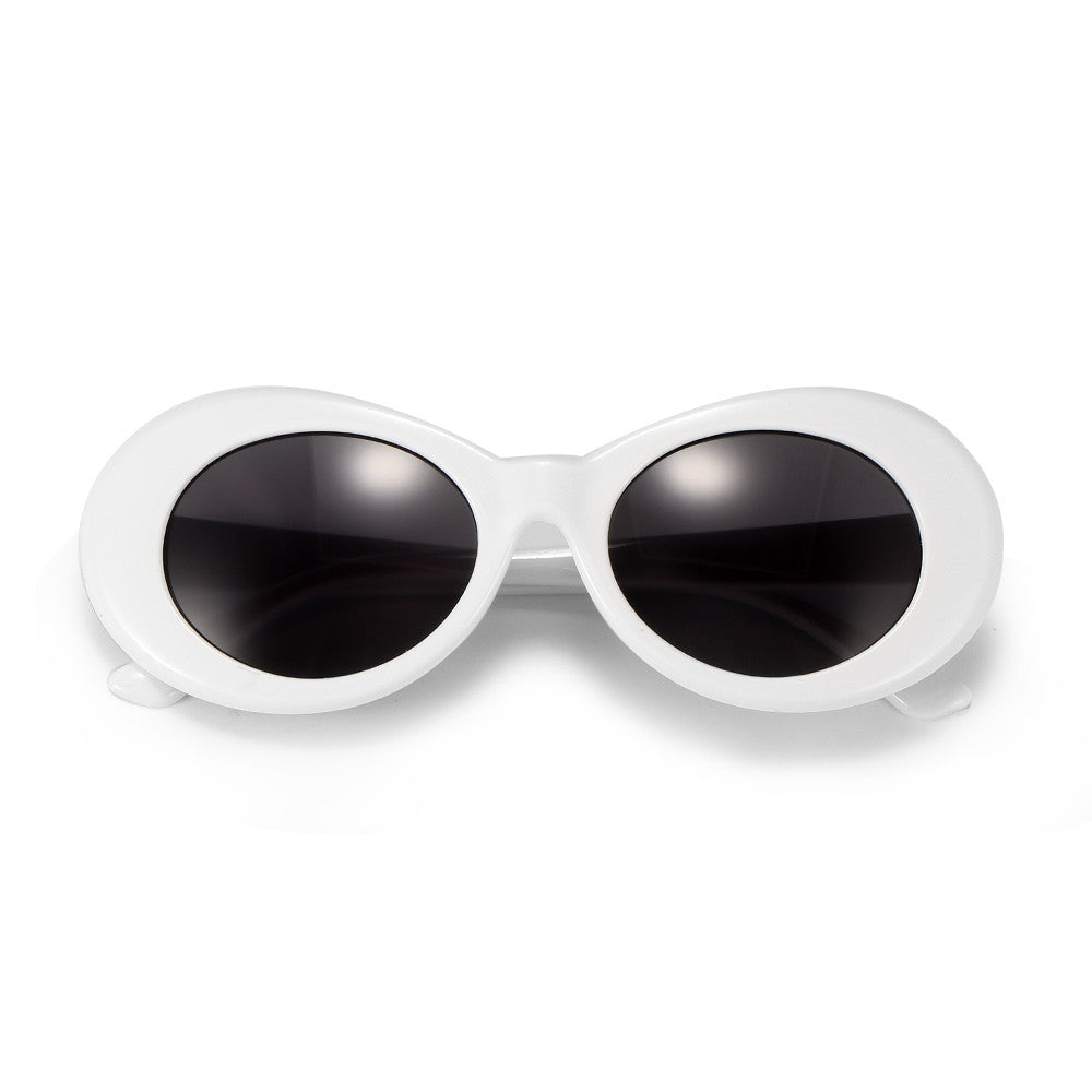 Retro Round Alloy Sunglasses Female Eyewear - aidaroos.com