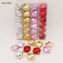 Load image into Gallery viewer, Natal 6PCS/Pack Heart Christmas Pendant Balls, Christmas Tree Decoration - aidaroos.com