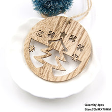 Load image into Gallery viewer, 3 PCS Vintage Christmas Wooden Pendants Ornaments - aidaroos.com