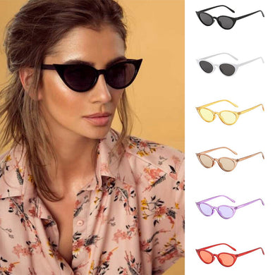 Women Man Vintage Cat Eye Irregular Shape Sunglasses Eyewear Retro Unisex - aidaroos.com