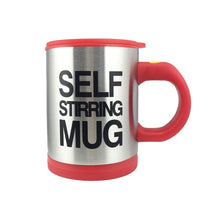 Load image into Gallery viewer, Automatic Self Stirring Mug 400ml /13.5oz Stainless Steel Surface - aidaroos.com